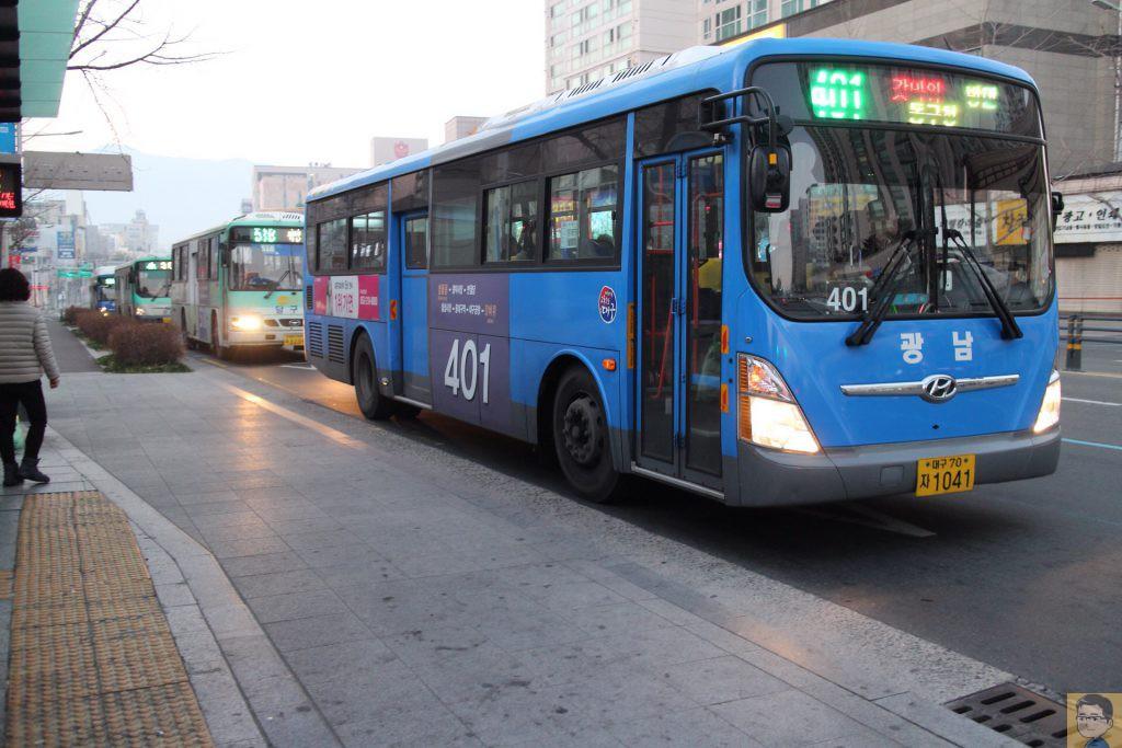 大邱路線バス401番
