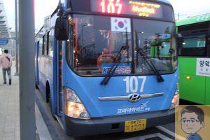 浦項市内107番バス