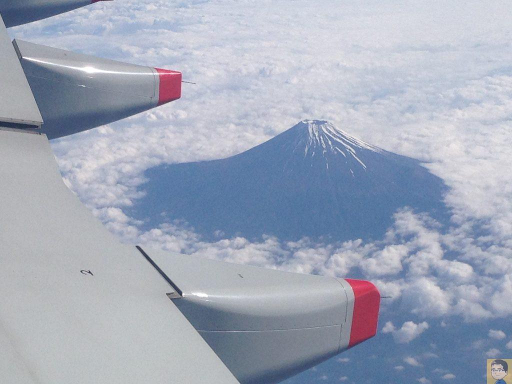 チャイナ エアライン 富士山